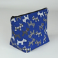Make up bag, cosmetic bag, medium, blue, Scottie dog, free UK p&p