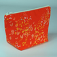 Make up bag, cosmetic bag, medium, orange, foliage, free UK p&p