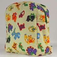 Backpack, rucksack, back to school, school bag, kids bag, dinosaurs, free UK p&p