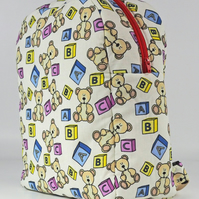Backpack, rucksack, child's bag, kids bag, school bag, teddy bears, free UK p&p