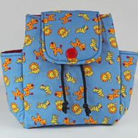 Backpack, rucksack, back to school, kids bag, school bag, animals, free UK p&p