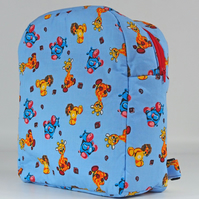 Backpack, rucksack, back to school, kids bag, school bag, safari, free UK p&p