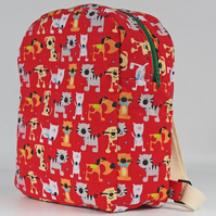 Backpack, rucksack, school bag, kids bag, nursery bag, cats, dogs, free UK p&p