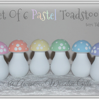 Set Of 6 Toadstools In A Choice Of Colours