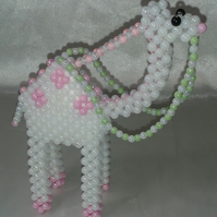 Majestic Beaded Camel