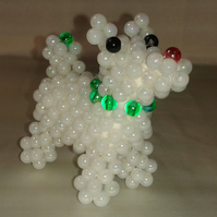 Cute Beaded Dog - Green Collar