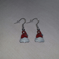 Enamelled Santa Hat Earrings Style 2