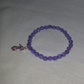 Lilac Stretchy Bracelet With Purple-Pink High Heel Charm