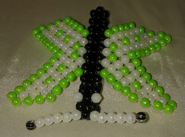 Green Beaded Butterfly