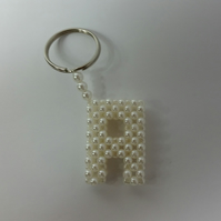 Beaded Woven 'A' Keyring
