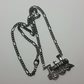 Antique Silver Steam Engine Necklace Style 2