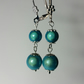 Turquoise 3D Miracle Illusion Bead Silver-Plated Earrings