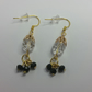 Black And Clear Crystal Gold-Plated Earrings