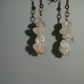 Rose Quartz Chips Antique Copper-Plated Earrings
