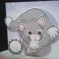 MEOW THE CAT BIRTHDAY CARD