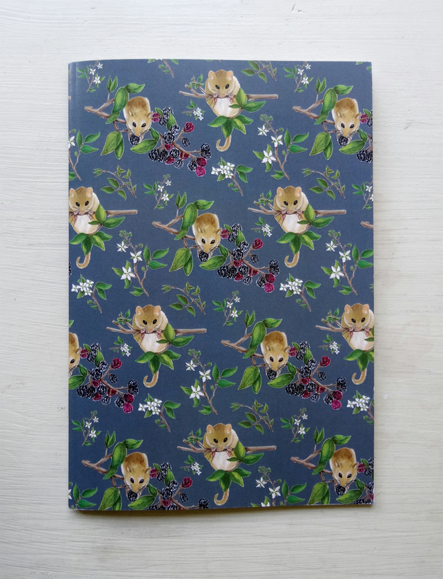 Hazel Dormouse Notebooks. Wildlife Illustration.