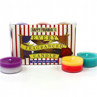 bertie bott's every flavour bean inspired tealights harry potter candle bookish