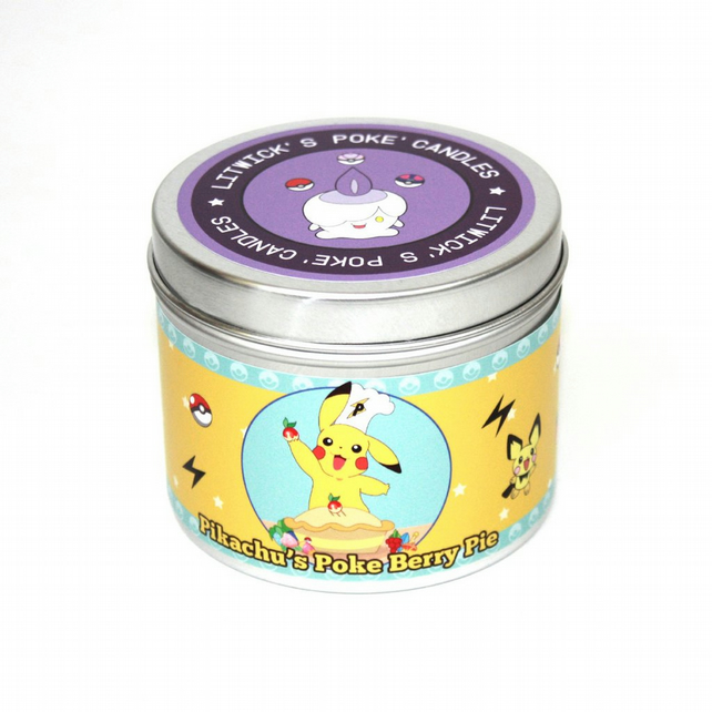 pokemon pikachu's poke berry pie scented candle gaming pokemon stocking filler