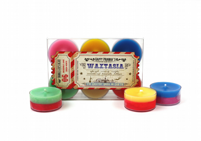 Waxtasia scented tealight candle pack - bookish candle carival night circus