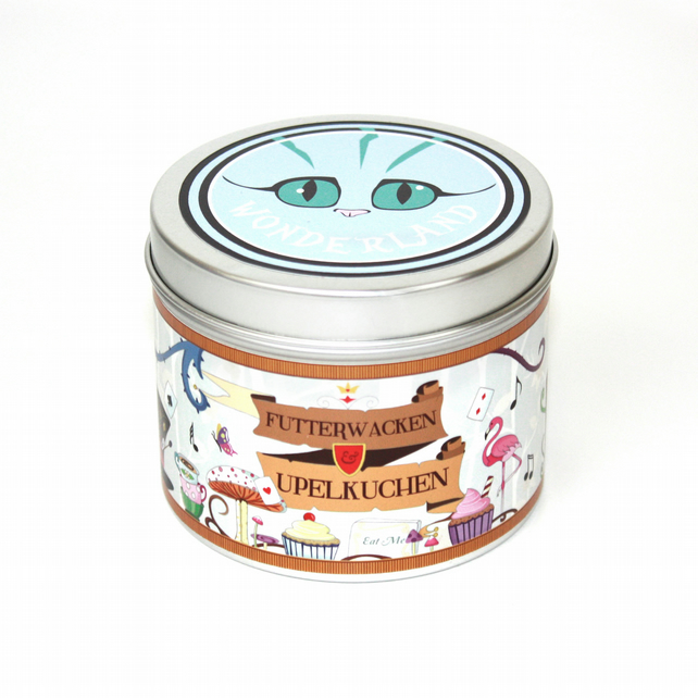 Alice in wonderland scented bookish candle wonderland reading candle tea party