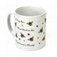 Busy bee honey bee coffee mug bee mug gardening gift honey bumble bee gift