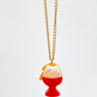 Acrylic egg necklace perspex jewellery laser cut