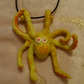 Yellow Octopus Necklace - Polymer Clay Jewellery - Handmade - Unique Gift - Fun