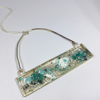 Rectangle sprinkle necklace