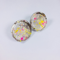 Circle splat earrings