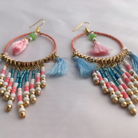 Earring, Beaded Earring, Drop Earrings
