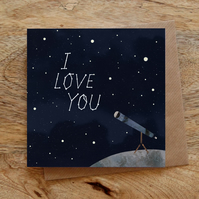 I Love You Constellations Illustrated Greeting Card