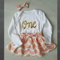 1st birthday outfit, baby girl 1st birthday outfit, Cake smash outfit, baby girl