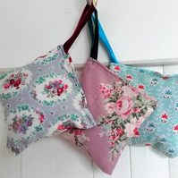Handmade lavender bags. Pack of 3, geometric or floral.
