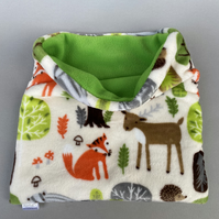 LARGE cuddle soft woodland animals snuggle sack for hedgehogs and guinea pigs