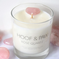 Natural Rose Quartz Candle with Essential Oils