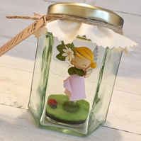 Felicity the Forest Faerie (Personalised fairy in a jar)