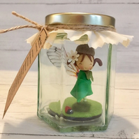 Daisy the Forest Faerie (Personalised fairy in a jar)