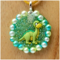 Dinosaur keyring Dinosaur Necklace personalised dual purpose gift wrapped