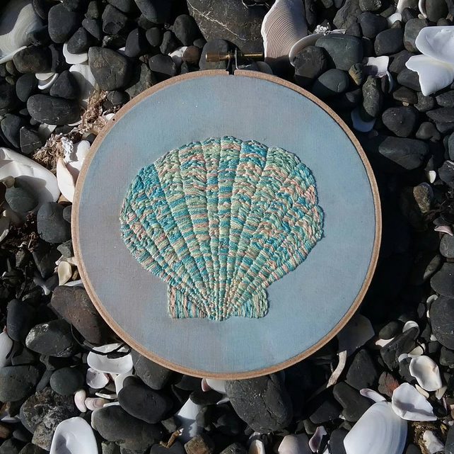 Pastel Sea Shell Embroidery