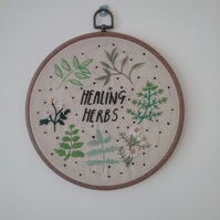 Healing Herbs Embroidery