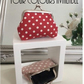 Handmade Vintage Style Polka Dot Coin Purse, Red, Black, Pink and White