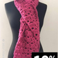 Super Chunky Lace Scarf in Pink – FREE UK delivery