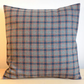 Cushion cover. Tartan plaid in teal and rust