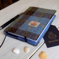 A6 Harris Tweed covered 2020 diary in Macleod tartan. Day per page