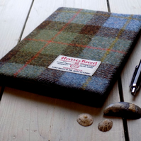 A5 Harris Tweed covered 2020 diary in Macleod tartan. Week to view