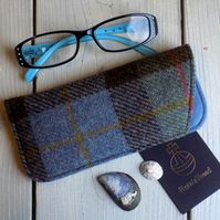 Harris Tweed eyeglasses case in Macleod tartan