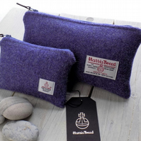 Harris Tweed gift set. Clutch and coin purse in lavender purple