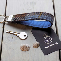 Harris Tweed key fob wrist strap in Macleod tartan