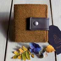 Harris Tweed bifold wallet in mustard