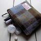 Harris Tweed make-up bag. Large size in Macleod tartan